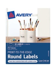 Avery® Print-to-the-Edge Round Labels 41463, Packaging Image