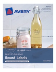 Avery® Print-to-the-Edge Round Labels 41464, Packaging  Image