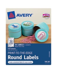 Avery® Print-to-the-Edge Round Labels 41465, Packaging Image