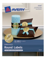 Avery® Embossed Round Labels 41467, Packaging Image