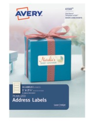 Avery® Pearlized Address Labels 41560, Packaging Image