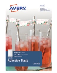 Avery® White Adhesive Flags 41570, Packaging Image