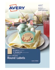 Avery® Kraft Brown Round Labels 41571,Packaging Image