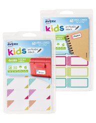 Avery Kids Durable Labels 41572 Combo Pack