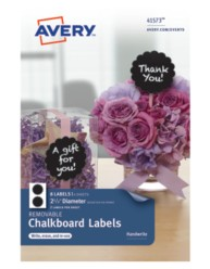 Avery® Removable Chalkboard Labels 41573, Packaging Image