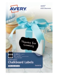 Avery® Removable Chalkboard Labels 41574,Application Image