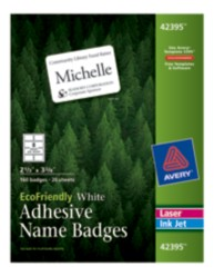 Avery Eco Friendly Name Badges 42395 Packaging Image