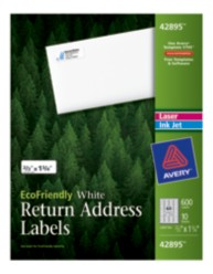 Avery® EcoFriendly White Address Labels 42895, Packaging Image
