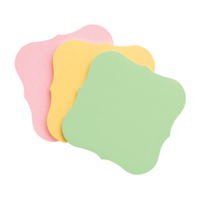 "MSHO Sticky Notes Pad, 2-3/4""x2-3/4"", UltraHold, Flourish, Custom Colors, 45 sheets/pad, 3/pk 45118"