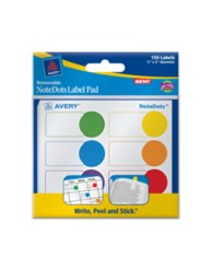 Removable NoteDots Label Pad, 45285, Packaging Image