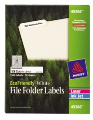 Avery EcoFriendly File Folder Labels 45366 Packaging Image