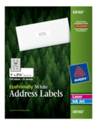 Avery EcoFriendly Address Labels 48160 Packaging Image