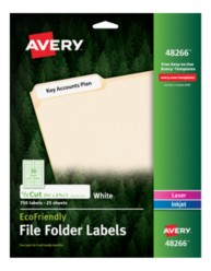 Avery® EcoFriendly File Folder Labels 48266, Packaging Image