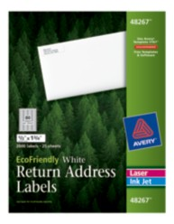 Avery® EcoFriendly Return Address Labels 48267, Packaging Image
