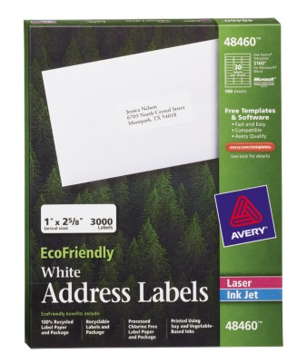EcoFriendly White Address Labels 48460