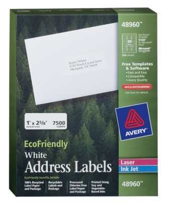 EcoFriendly White Address Labels 48960