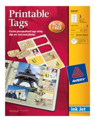 Avery Printable Tags 53215 Packaging Image
