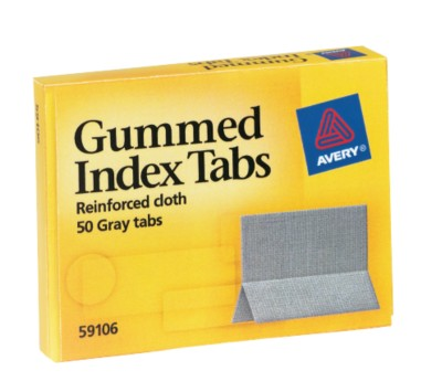 Index Tabs, Gummed Cloth 59106