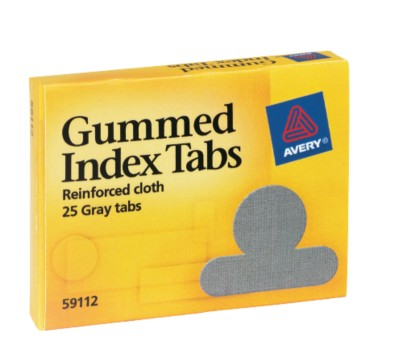 Index Tabs, Gummed Cloth 59112