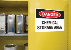 Display workplace safety signs with clear, attention-grabbing warning labels using design graphics for GHS, ANSI, NFPA, DOT and more.