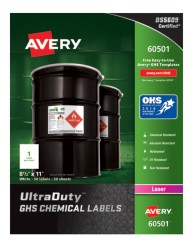 Avery Award-Winning GHS UltraDuty Chemical Labels