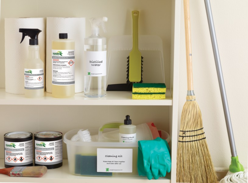 Organize your supply closet with labels