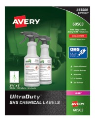 Avery Award-Winning GHS UltraDuty Chemical Labels 60503