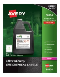 60504 Avery UltraDuty GHS Chemical Labels, packaging