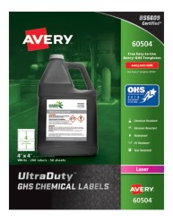 Avery Award-Winning GHS UltraDuty Chemical Labels 60504
