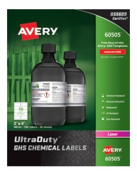 60505 Avery UltraDuty GHS Chemical Labels, packaging