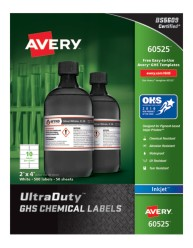 Avery Award-Winning GHS UltraDuty Chemical Labels 60525