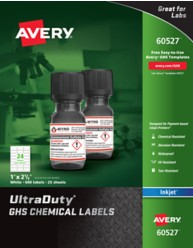 Avery UltraDuty GHS Small Container Chemical Labels