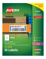 Avery® Durable ID Labels with TrueBlock® Technology, 61531, packaging