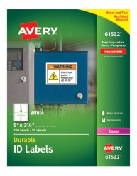 Avery® Durable ID Labels with TrueBlock® Technology, 61532, packaging