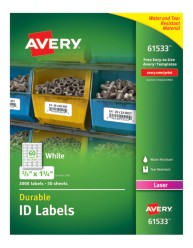 Avery® Durable ID Labels with TrueBlock® Technology, 61533, packaging