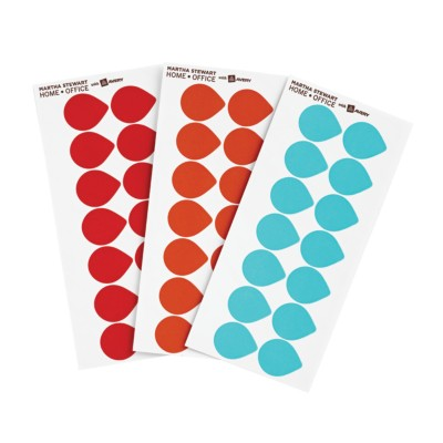 MSHO - Tear Dots, Removable, Color Coding Labels, Assorted, 14up 72446