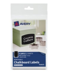 Avery® Removable Chalkboard Labels 73300, Packaging Image