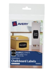 Avery® Removable Chalkboard Labels 73301, Packaging Image