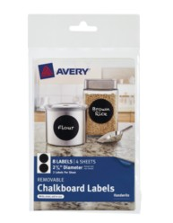 Avery® Removable Chalkboard Labels 73302, Application Image