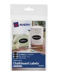 Avery® Removable Chalkboard Labels 73303, Packaging Image
