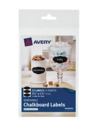 Avery® Removable Chalkboard Labels 73304, Packaging Image