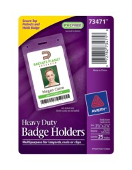 Avery® Heavy Duty Badge Holders 73471, Packaging Image