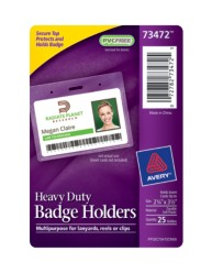 Avery ® Heavy Duty Badge Holders 73472, Packaging Image