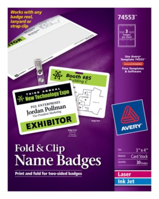 Fold & Clip Name Badge 74553