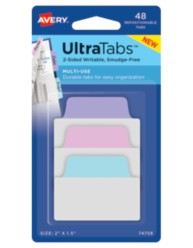 Avery Multiuse UltraTabs 74758, Packaging Image