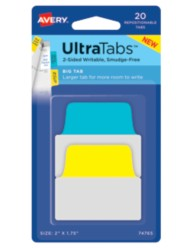 Avery® Big Tab UltraTabs™ 74765, Packaging Image