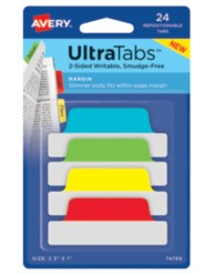Avery® Margin Tab UltraTabs™ 74768, Packaging Image