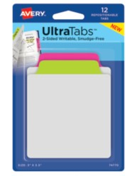 Avery® Tab & Note UltraTabs™ 74770, Packaging Image