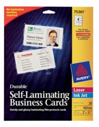 Self-Laminating Business Cards 75361, Packaging Image