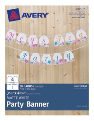 Avery® Matte White Party Banner 80507, Packaging Image